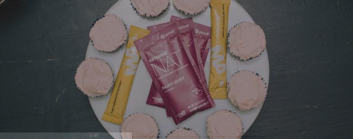 Vanilla SKĪ Cupcake + Fairy DustFrosting